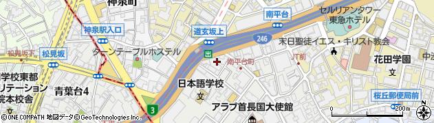 東京都渋谷区南平台町15-13周辺の地図