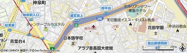 東京都渋谷区南平台町2-6周辺の地図