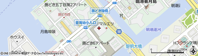 ミッドタワー周辺の地図