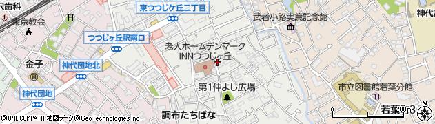 東京都調布市東つつじケ丘周辺の地図