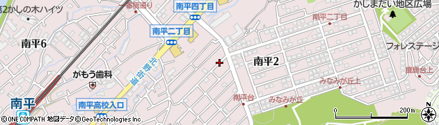 東京都日野市南平周辺の地図