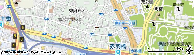 東京都港区東麻布周辺の地図