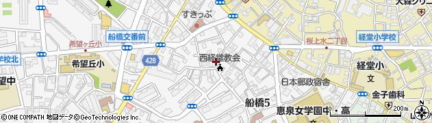 東京都世田谷区船橋5丁目周辺の地図