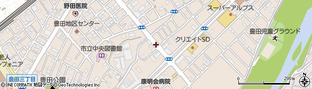 東京都日野市豊田周辺の地図