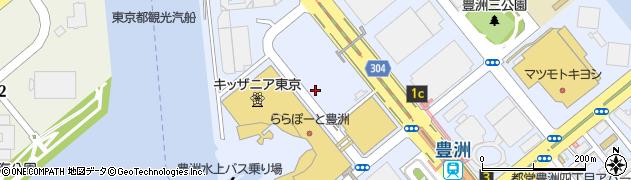 東京都江東区豊洲2丁目周辺の地図
