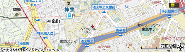 東京都渋谷区円山町5-6周辺の地図