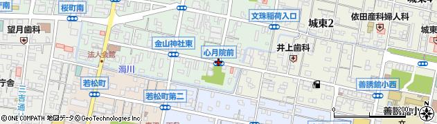 心月院前周辺の地図