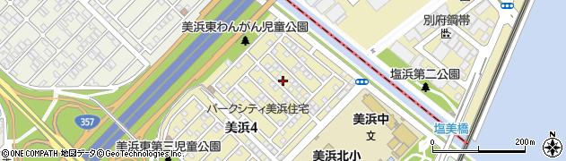 千葉県浦安市美浜周辺の地図