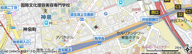 東京都渋谷区道玄坂1丁目17-9周辺の地図