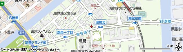 東京都江東区潮見周辺の地図