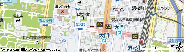 東京都港区芝大門周辺の地図