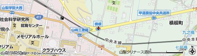 横根周辺の地図