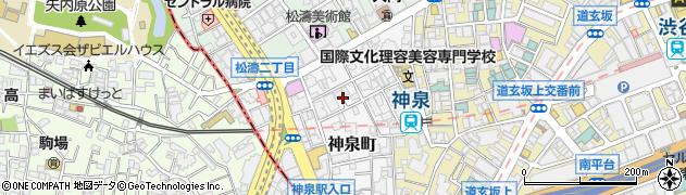 東京都渋谷区神泉町周辺の地図