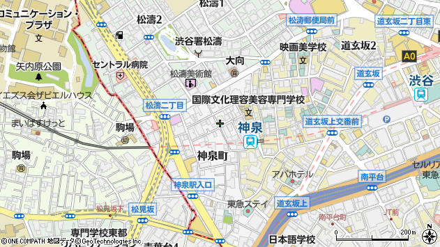 〒150-0045 東京都渋谷区神泉町の地図