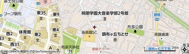 東京都調布市調布ケ丘周辺の地図