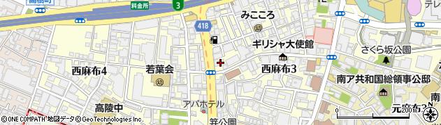 ワンガーデン西麻布店周辺の地図