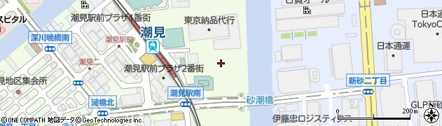 東京都江東区潮見2丁目周辺の地図