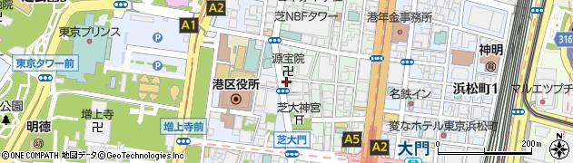 ライオンズマンション芝公園周辺の地図