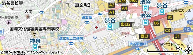 東京都渋谷区道玄坂周辺の地図
