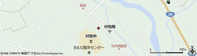 岐阜県中津川市付知町周辺の地図