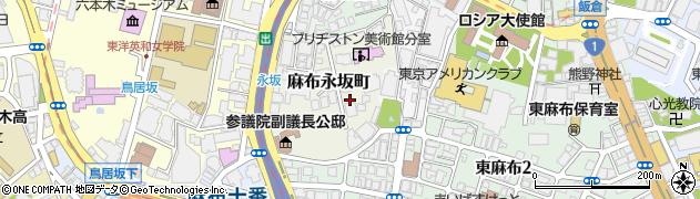 東京都港区麻布永坂町周辺の地図