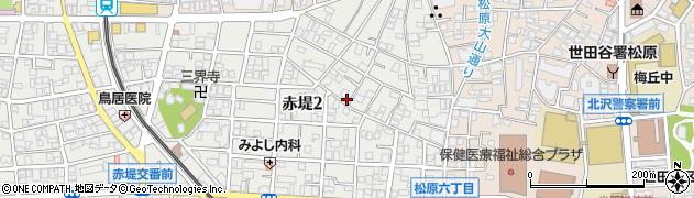 東京都世田谷区赤堤2丁目周辺の地図