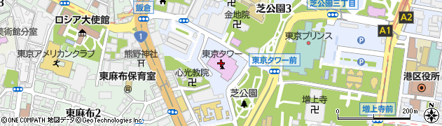 東京タワー周辺の地図