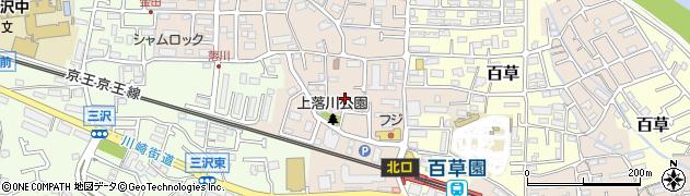 東京都日野市落川周辺の地図