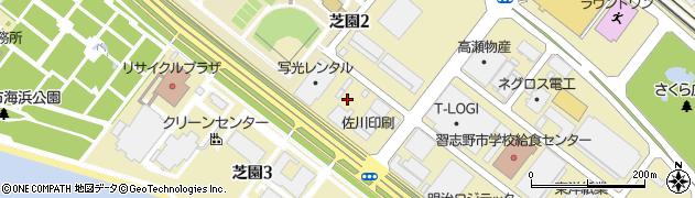 千葉県習志野市芝園周辺の地図