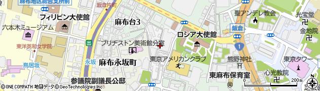 東京都港区麻布狸穴町周辺の地図