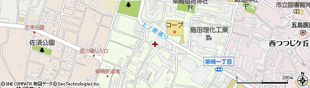 東京都調布市柴崎周辺の地図