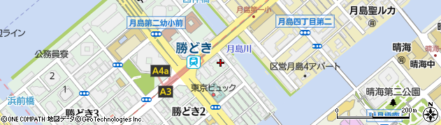 都営勝どき2丁目アパート周辺の地図