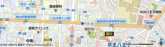 八王子駅入口東周辺の地図