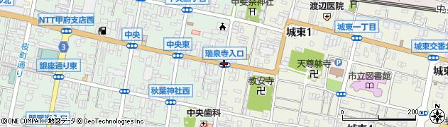 瑞泉寺入口周辺の地図