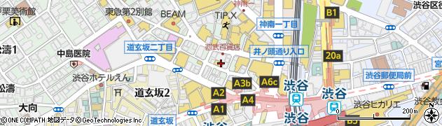 こてがえし渋谷店周辺の地図