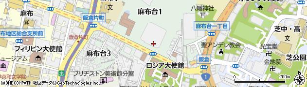 東京都港区麻布台周辺の地図