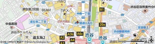 ゆうちょ銀行本店西武渋谷店内出張所周辺の地図