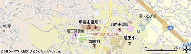 山梨県甲斐市周辺の地図