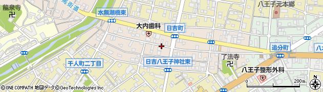 東京都八王子市日吉町周辺の地図