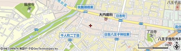 日吉八王子神社周辺の地図