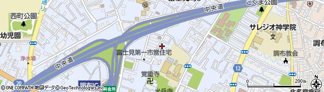 東京都調布市富士見町周辺の地図