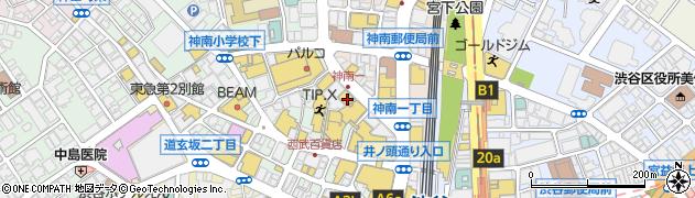 ティ・ロランドガレットハウス 西武渋谷店周辺の地図