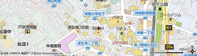 渋谷 もつ吉周辺の地図