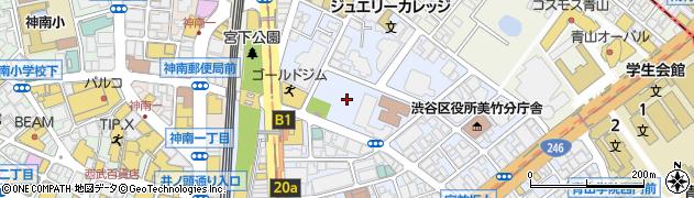 東京都渋谷区周辺の地図