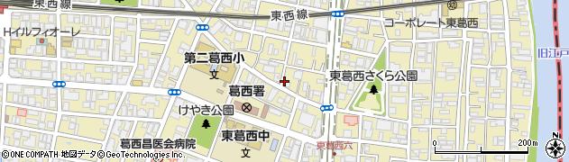 東京都江戸川区東葛西周辺の地図