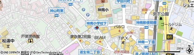 神南小学校下周辺の地図