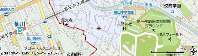 東京都世田谷区給田周辺の地図