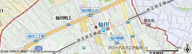 東京都調布市仙川町周辺の地図
