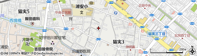 千葉県浦安市猫実周辺の地図