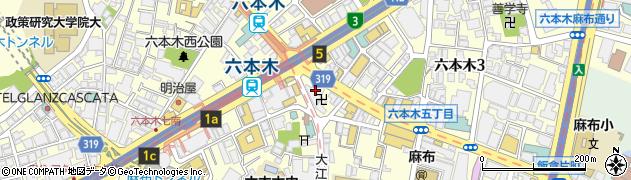 東京都港区六本木5丁目1-3周辺の地図